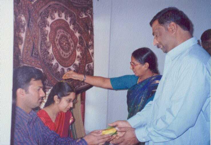 KVs parents blessing us